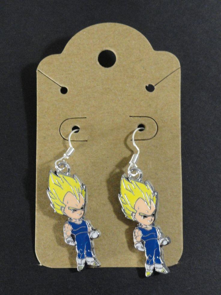 Super Saiyan Vegeta Dragonball Z Dangle Earrings SS DBZ Anime