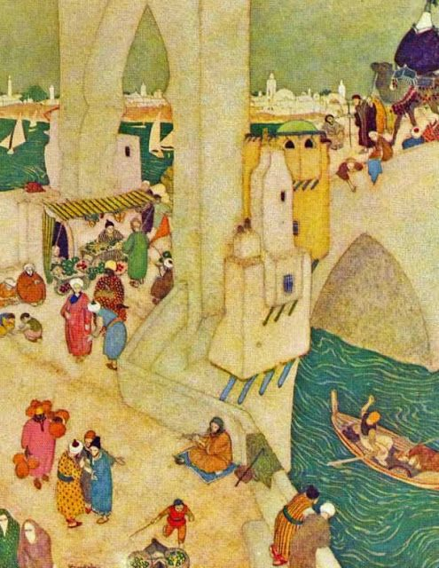 """Edmund Dulac - From """"Sinbad the Sailor and Other Stories from the Arabian Nights"""", 1914"""