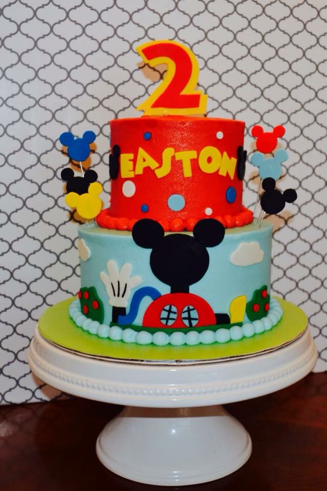 Mickey Mousr Clubhouse cake by https://www.facebook.com/mrskrekscakes
