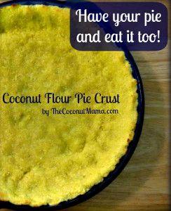 Coconut Flour Pie Crust | FaveGlutenFreeRecipes.com (gluten free pie crust, gluten free desserts, easy pie crust recipe)