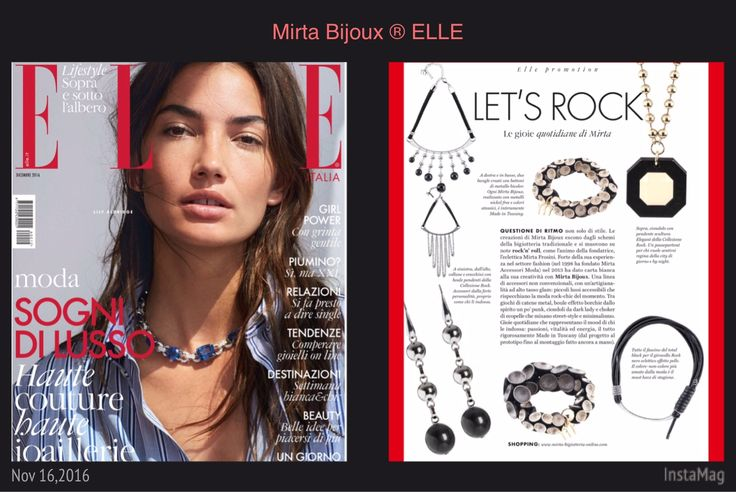 Mirta Bijoux in ELLE Dicembre 2016 LET'S ROCK  Le gioie quotidiana di Mirta Bijoux