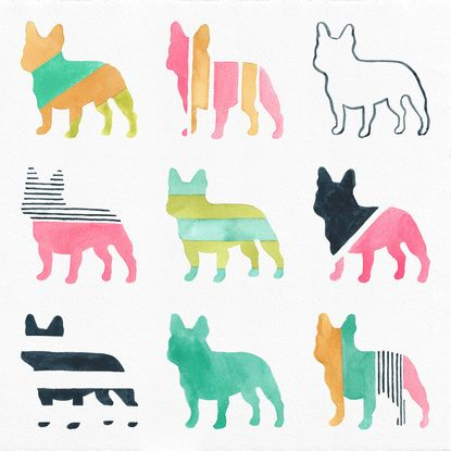 French Bulldogs Art Print by Anne Was Here | Society6