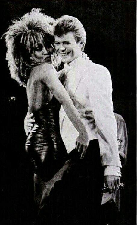 Tina Turner with David Bowle 1985