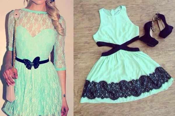 Cómo combinar un vestido verde menta: más combinaciones