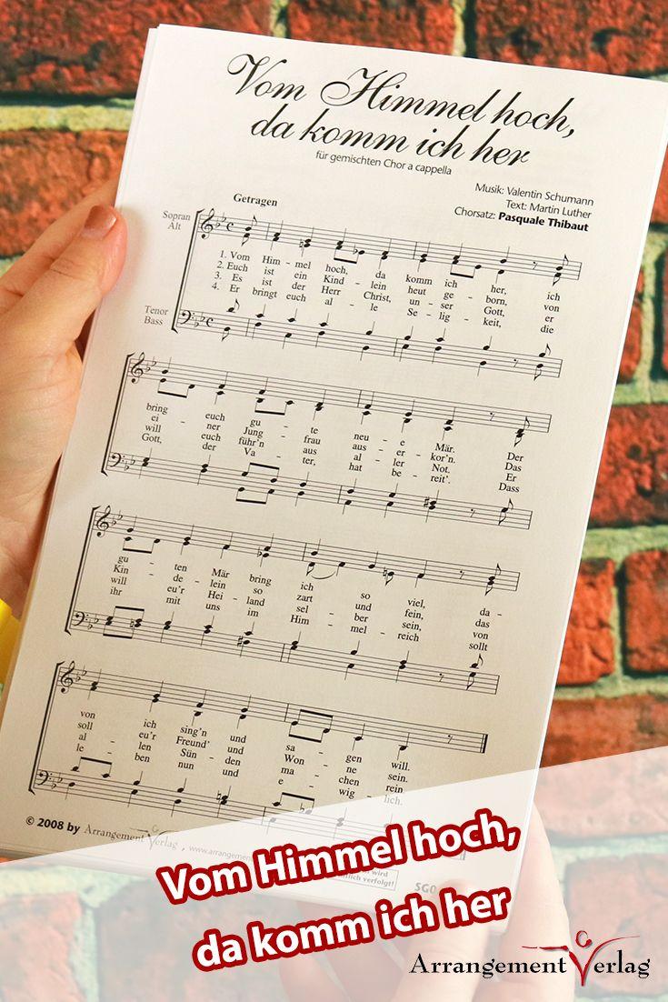 Vom Himmel hoch, da komm ich her für Männerchor ✓ Bekanntes ...