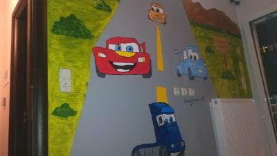 Βάλε χρώμα: Ζωγραφιά σε παιδικό δωμάτιο με θέμα τα Cars
