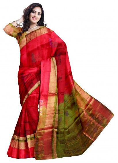 Red Peacock Designer Uppada Pattu Saree & Blouse Product code: SLSA90S003 Retail price: 10,838/- Sale price : 10,325/-