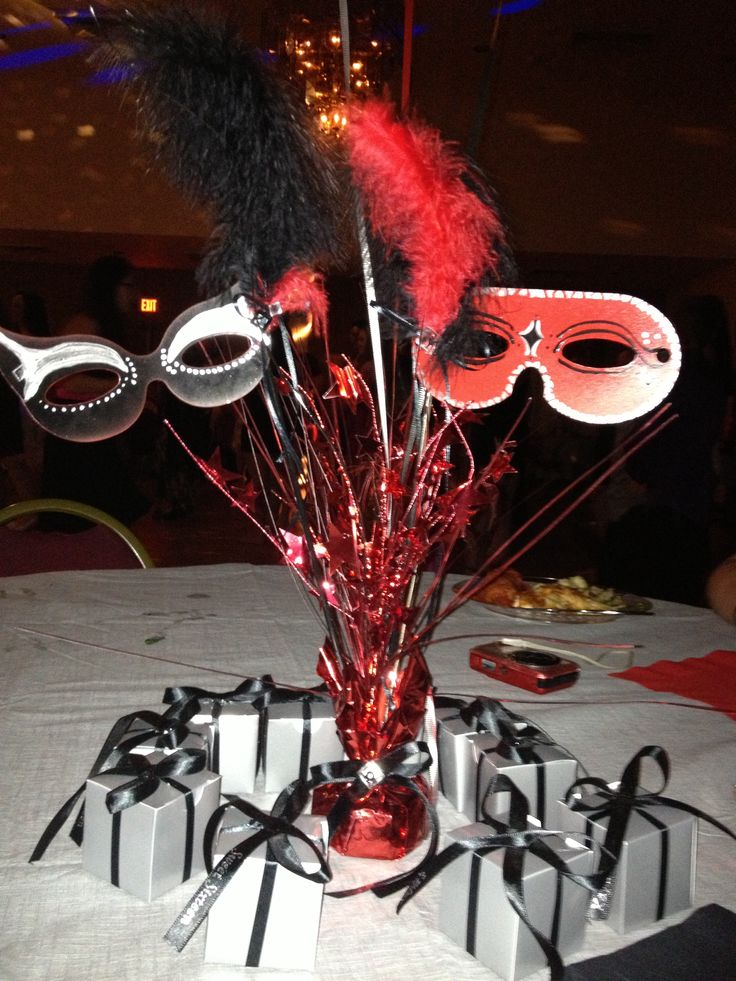 Centerpieces for a Masquerade sweet 16 2013 | My Crafts ...