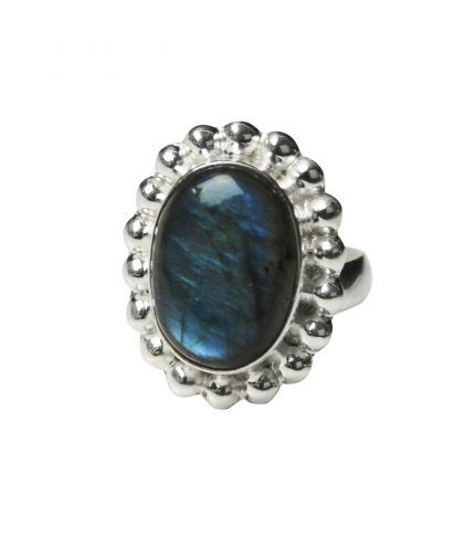 Melanie Woods Ring, open size band, Laboradorite set in sterling silver.  http://melaniewoods.com/product/labradorite-mexicana-gemstone-ring/