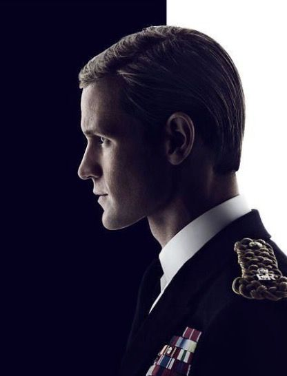 Matt Smith in promotional picture for The Crown