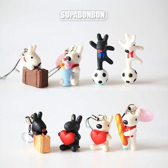 2 pcs / Decoden / PVC / Pendant / Doggy / / by Supabonbonniere2
