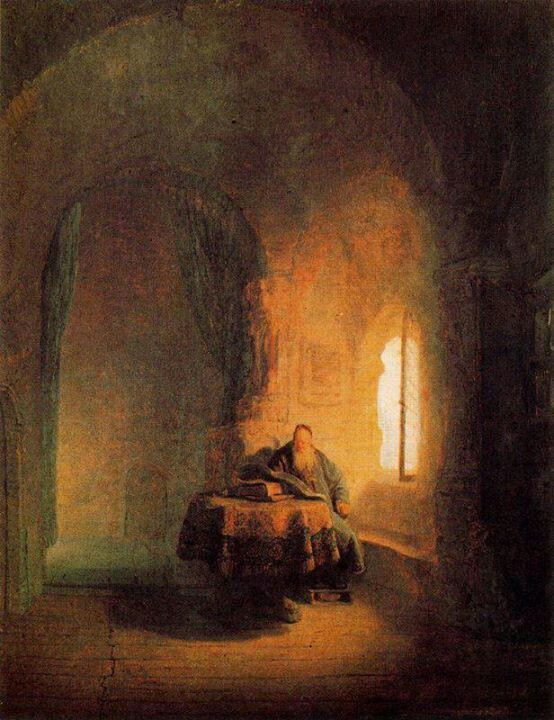 O filósofo, Rembrandt ( Beautiful illustration of the space & light