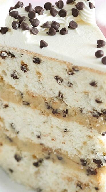 Chocolate Chip Cookies and Milk Cake - dessert recipes
