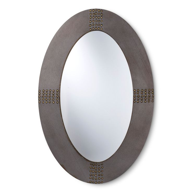 Oil Rubbed Bronze Oval Window Pane Mirror
