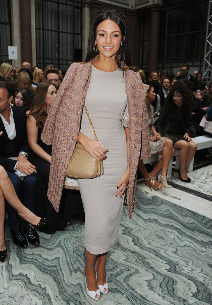 Pin for Later: The Burberry Front Row Upped the London Fashion Week Ante Michelle Keegan The Coronation Street star continued her London Fashion Week schedule with the Julien Macdonald show.