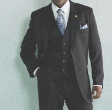 Stacy Adams Mens Big and Tall 3 Piece Dress Suit Suny 4016 - click to enlarge