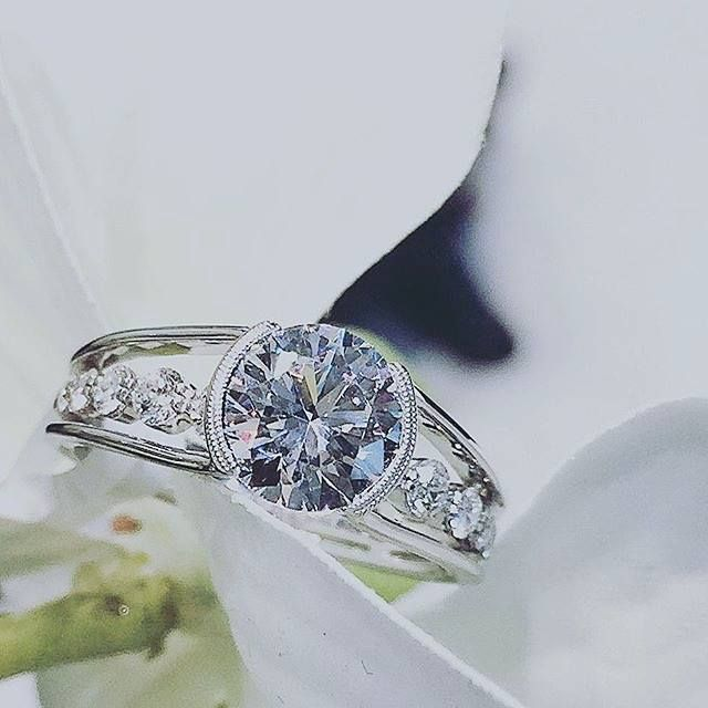 Sparkling diamond engagement ring from Simon G Jewelry