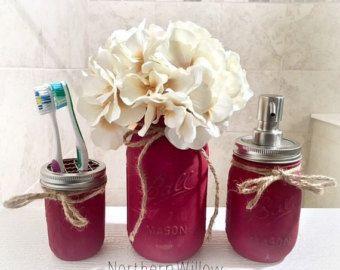Mason Jar Soap Dispenser Mason Jar Bathroom Set Country