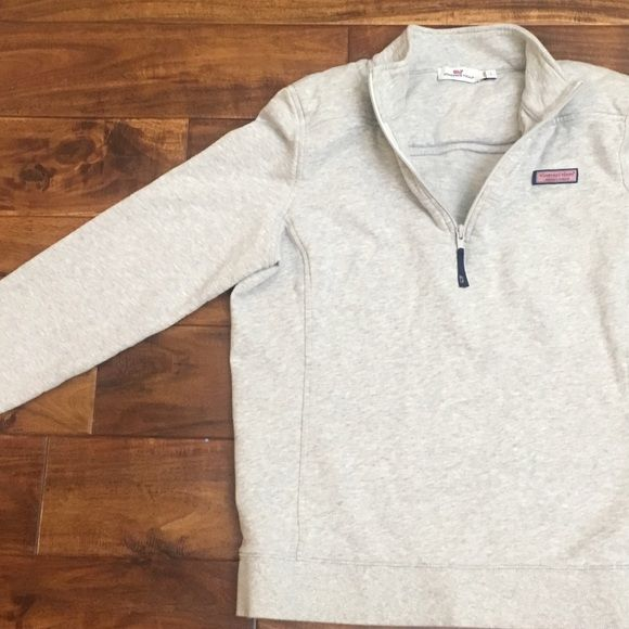 Vineyard Vines Grey Womens Shep Shirt Large Excellent condition. Washed and worn once. Retail $125 - pullover/ warm & cozy. Size Large but VV runs Small. Vineyard Vines Tops Sweatshirts & Hoodies