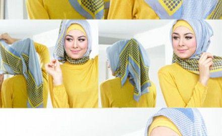 Hijab Tutorial Fancy Style. Cocok untuk suasana santai hingga semi formal.