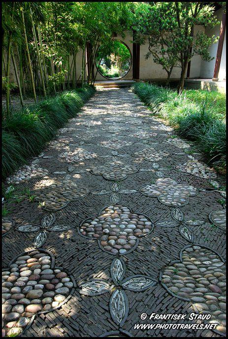 Traditional Chinese garden in Suzhou, UNESCO site, Jiangsu Province, China
