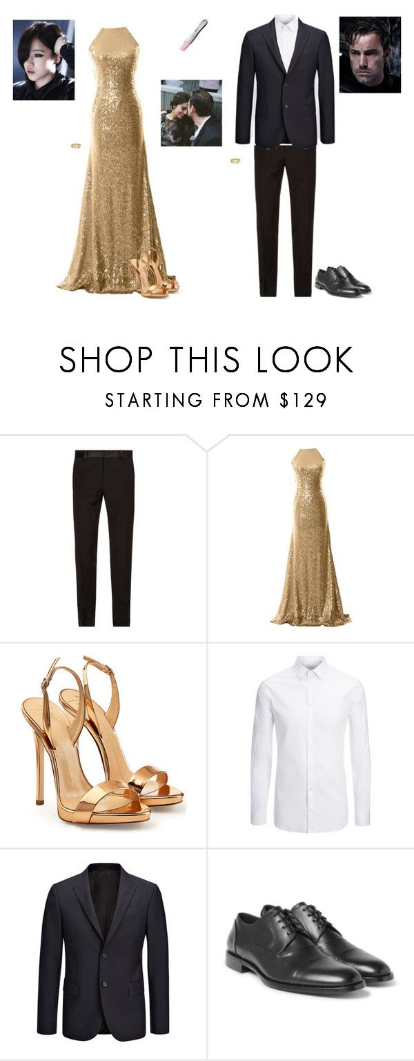 """""""Haruhi and Bruce Wayne celebrate the new year and the beginning of a family"""" by haruhikurosaki-demon ❤ liked on Polyvore featuring Dolce&Gabbana, Giuseppe Zanotti, Joseph, Shaun Leane and Sessions"""