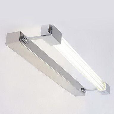 Bulb Included Bathroom Wall Lamp, 1 Light, Modern Stainless Steel Electroplating – DKK kr. 545