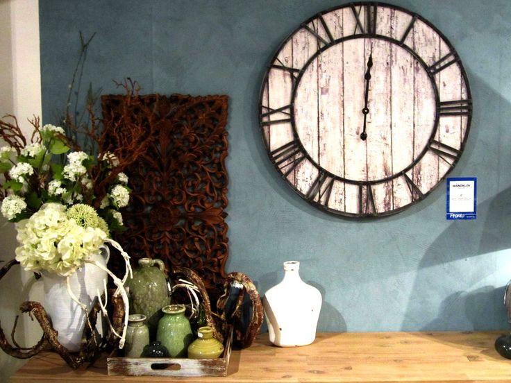klok, vaas, home, decoratie, styling, kalkverf, wand, bloemen, living, pronto, wonen, natuurlijk, wandpaneel, tuin, kaarsen