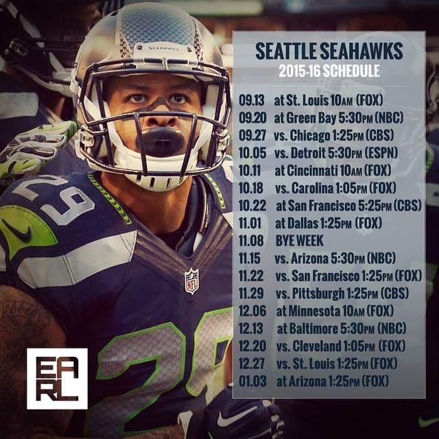 Seattle Seahawks Schedule: Seahawks 2015 Schedule