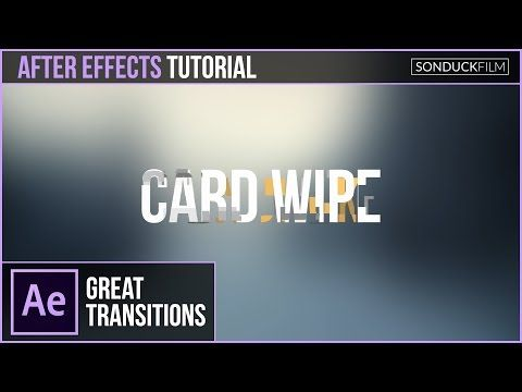 After Effects Tutorial: Text-to-Text CARD WIPE TRANSITION - YouTube