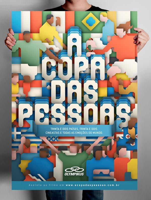 A Copa Das Pessoas by Siggi Eggertsson - #poster #typography #layout #illustration