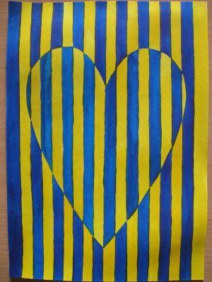 Srdce - op art