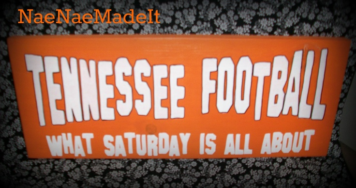 Tennessee Football Wall Sign Vols by NaeNaeMadeIt on Etsy, $20.00