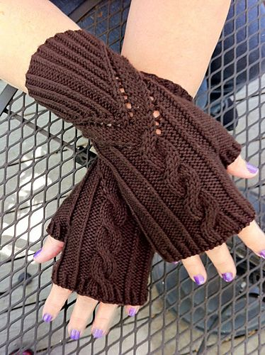 This pattern has been designed especially for Fingerless Glove Fanatics, for the Mystery Mitt KAL April 2013. It will be offered for free for the duration of the KAL, and will be available for sale after May 1, 2013.