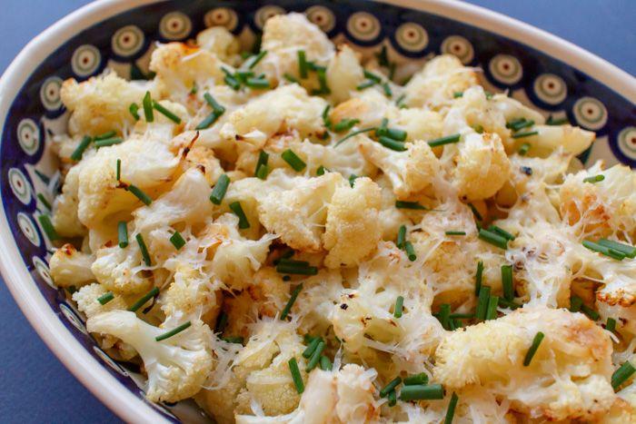 Lemon, Garlic & Parmesan Roasted Cauliflower  |  Lemon & Mocha