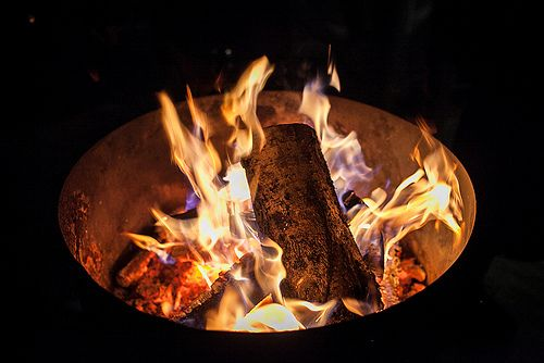 Beautiful fire in oildrum.