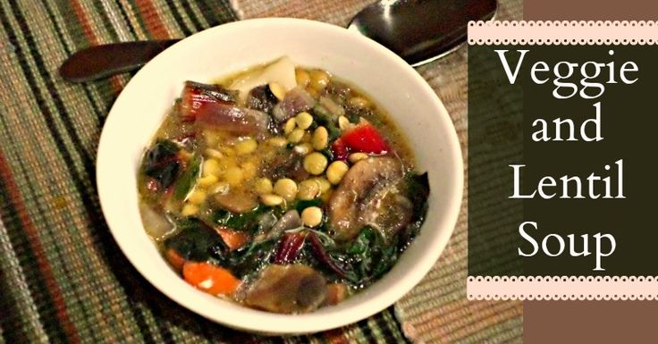 Vegetable and Lentil Soup--try Chana Dal beans and Red Palm Oil