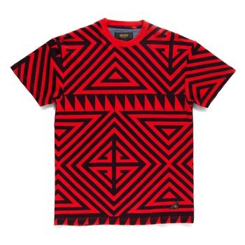100% Cotton Custom 10deep Geo pattern on Red tee Regular fit  £29.17 (£35.00 inc VAT)  Since 1995, New York's original clothing company 10Deep have continually brought life to the street and urban fashion with their bold print t-shirts, caps, 10Deep jacket and accessories