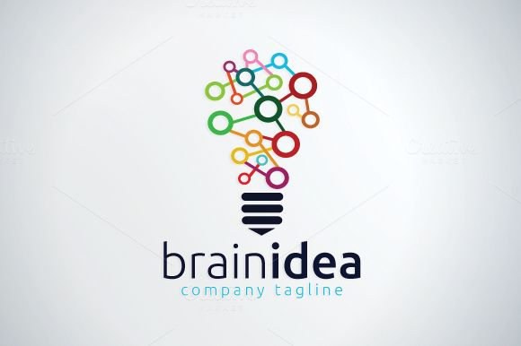 Brain Logo Template by vectorlogo in Templates Logos
