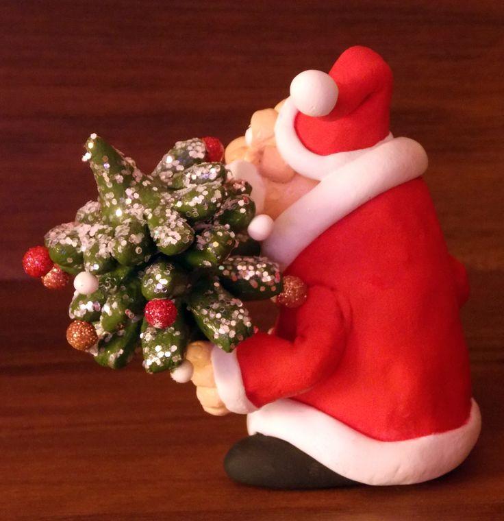 Дед Мороз из полимерной глины