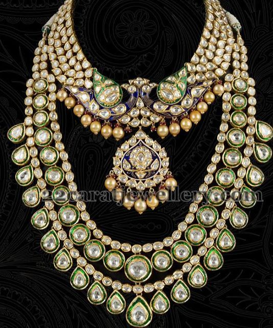Carat Gold Designer And Traditional Kundan Work Choker Necklace   Download Gambar