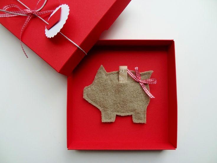 Geldgeschenk 'Schwein' ˜Hochzeit Geburtstag von schnurzpieps auf DaWanda.com