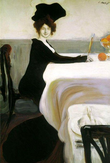 Леон Бакст Дама с апельсинами (Ужин), 1902