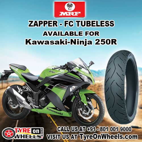 Buy MRF Bike Tyres Online of Zapper FC Tubeless for Kawasaki Ninja 250R Tyre at Guaranteed Low Prices Buy now at http://www.tyreonwheels.com/biketyre/MRF/ZAPPER-FC/9137