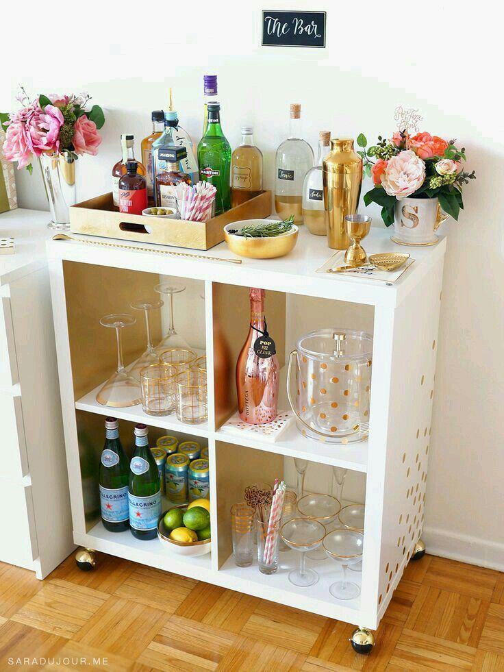 Goldbarcartdecor Condo Ideas Apartment Bar Bars For Home Bar