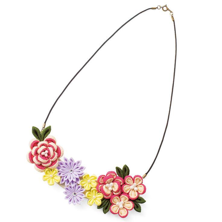 切ってつまんで花開く約7時間大人気のつまみ細工がみなさまの期待にこたえてアクセサリーで登場!|つまみ細工で愛らしく咲く 野の花アクセサリーの会