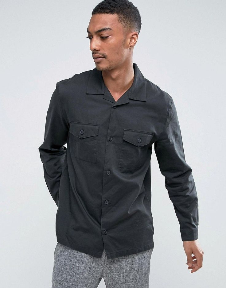 Get this Weekday's slim jeans now! Click for more details. Worldwide shipping. Weekday Lupus Shirt - Black: Shirt by Weekday, Lightweight woven cotton, Button placket, Two chest pockets, Regular fit - true to size, Machine wash, 100% Cotton, Our model wears a size Medium and is 6'1.5�/187 cm tall. Weekday founders �rjan Andersson and Adam Friberg honed their signature Scandinavian style across a cult line of skinny jeans. Fast-forward to now and Weekday's MTWTFSS collection continues the ...