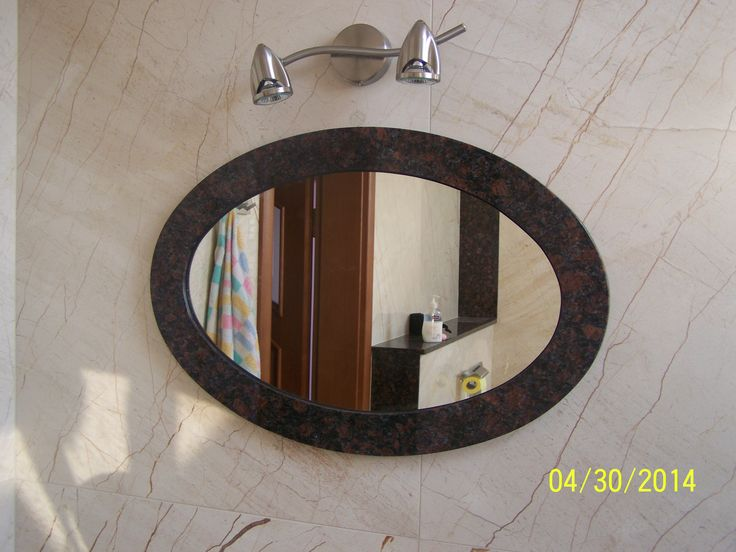 Rama lustra została wykonana z granitu Cofee Brown