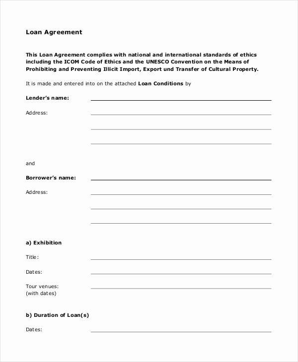 Simple Loan Application Form Template Beautiful Loan Agreement