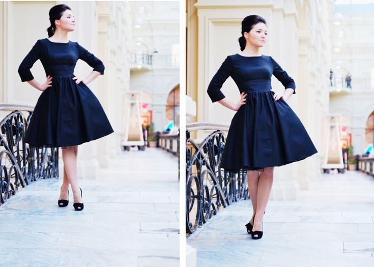 Платья в стиле 60-х с пышной юбкой купить